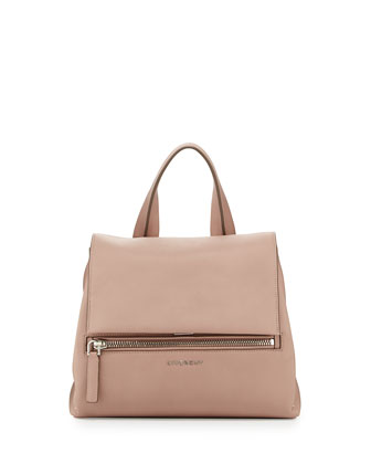 Pandora Small Leather Satchel Bag, Pink