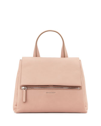 Pandora Pure Leather Satchel Bag, Pink