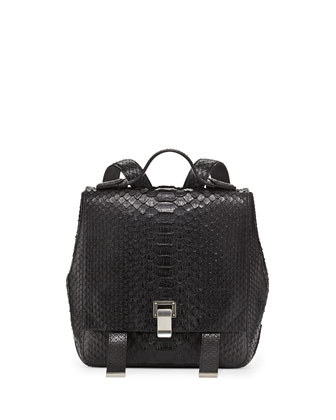 Courier Small Python Backpack, Black