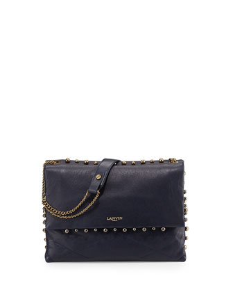 Sugar Studded Shoulder Bag, Navy