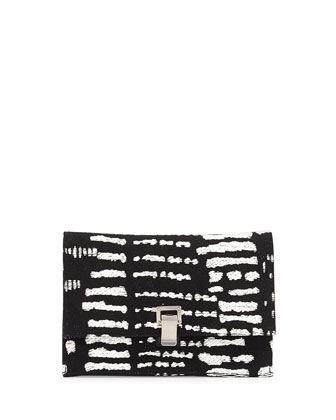 Small Lunch Contrast Woven Clutch Bag