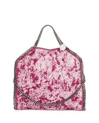 Small Falabella Splash Fold-Over Tote Bag, Bright Pink