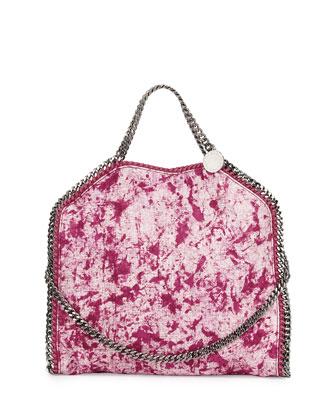 Small Falabella Splash Fold-Over Tote Bag, Bright Pink