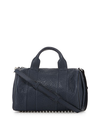Rocco Stud-Bottom Duffel Bag, Navy