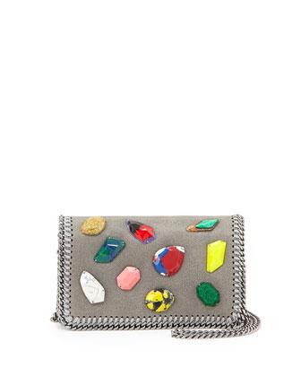 Falabella Crystal Crossbody Bag, Gray
