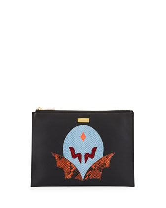 Super Hero Small Zip Clutch Bag,