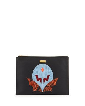 Super Hero Small Zip Clutch Bag,