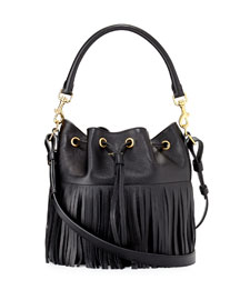 Emmanuelle Medium Fringe Bucket Bag