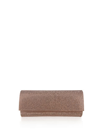 Ritz Fizz Crystal Clutch Bag, Rose Gold