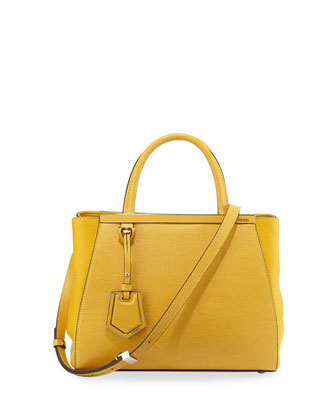 2Jours Petit Saffiano Tote Bag, Yellow