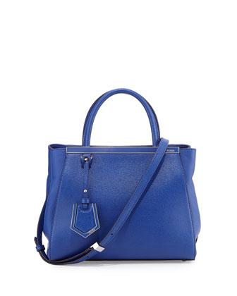2Jours Petit Saffiano Tote Bag, Blue