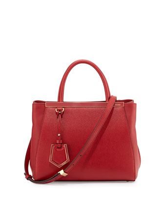 2Jours Petit Saffiano Tote Bag, Red