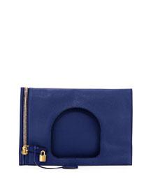 Alix Medium Padlock & Zip Shoulder Bag, Cobalt