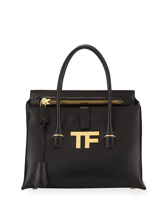 TF Icon Satchel Bag, Black