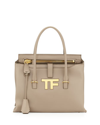 TF Icon Satchel Bag, Taupe