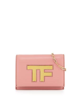 TF Small Flap Crossbody Bag, Rose