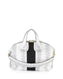 Nightingale Medium Ayers Bag, White/Black
