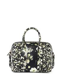Lucrezia Baby's Breath-Print Leather Medium Duffel Bag