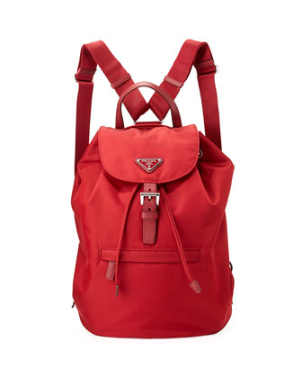 Vela Large Drawstring Backpack, Red (Fuoco)