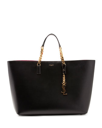 Monogramme Double-Chain Tote Bag, Black/Red