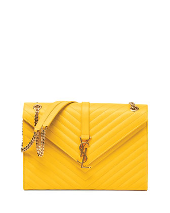 Monogramme Matelasse Shoulder Bag, Yellow
