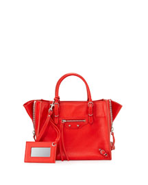 Papier A4 Mini Zip Tote Bag, Red