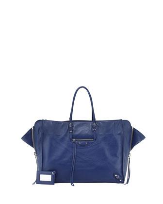 Papier A4 Zip Around Tote Bag, Blue