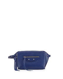 Papier Zip-Around Belt Bag, Blue