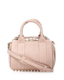 Rockie Mini Pebbled Satchel Bag, Petal
