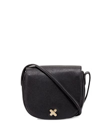 Lia Pebbled Leather Satchel Bag
