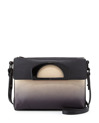 Passage Ombre Pebbled Leather Messenger Bag