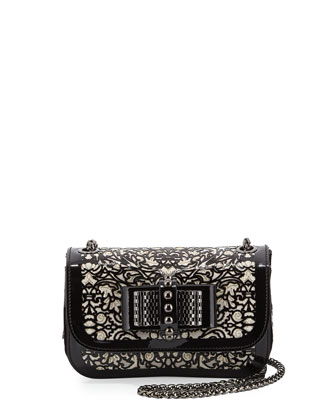 Sweet Charity Chantilly Lace Crossbody Bag, Black