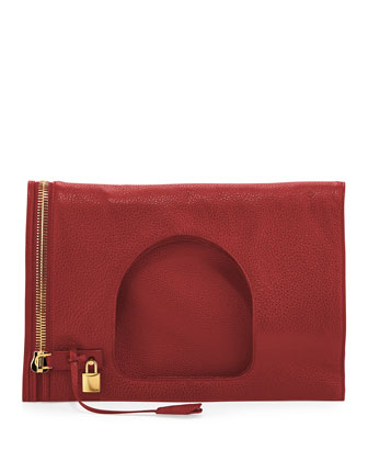 Alix Medium Padlock & Zip Shoulder Bag, Red