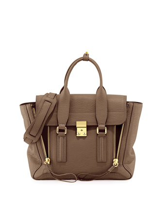 Pashli Medium Satchel Bag, Taupe