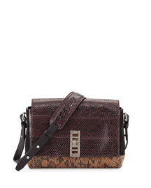 Elliott Bicolor Snakeskin Shoulder Bag