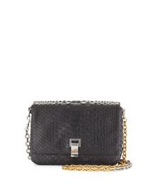 Small Python Courier Bag, Black