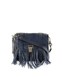 PS1 Leather Fringe Pouch Crossbody Bag