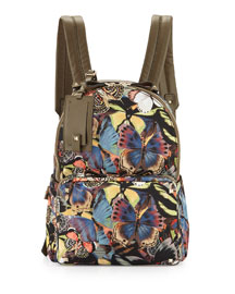 Medium Camu Butterfly-Print Nylon Backpack