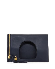 Alix Large Leather Padlock & Zip Shoulder Bag