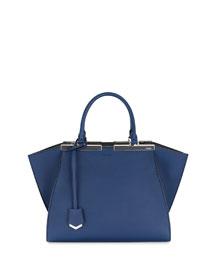3Jours Bicolor Leather Satchel Bag