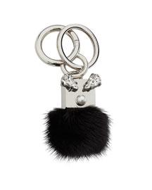 Mink Fur Crystal Key Chain