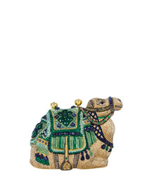 Sodalite & Green Onyx Crystal Camel Clutch Bag