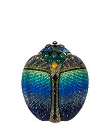 Crystal Scarab Beetle Clutch Bag