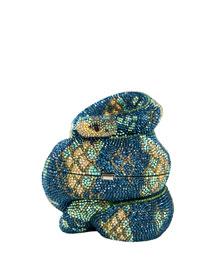 Crystal Snake Clutch Bag