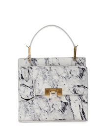 Le Dix Cartable Flap Satchel Bag, Marble