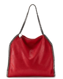 Falabella Small Tote, Red