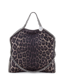 Falabella Leopard-Print Flap Shoulder Bag
