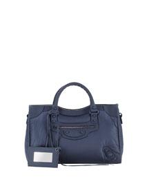 Classic Nylon City Bag, Navy