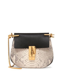 Drew Mini Python Shoulder Bag