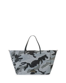 Camucouture Felt Tote Bag